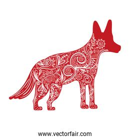 dog animal to chinese zodiac and ornamental decoration