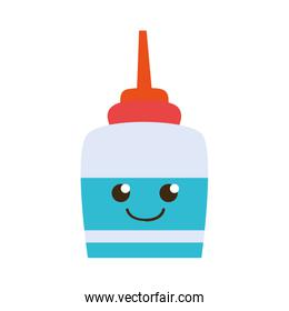 colorful happy and tender glue object kawaii