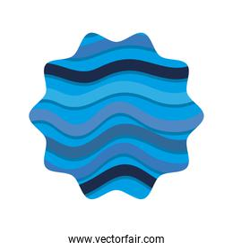 star shape with ocean waves background