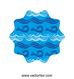 star shape with waves pattern background