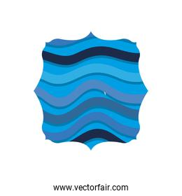 quadrate shape with ocean waves background