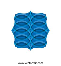 quadrate shape with waves pattern background