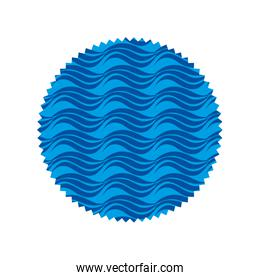 circle shape with nature waves background