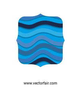 square shape with ocean waves background