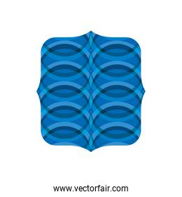 square shape with blue waves blackground