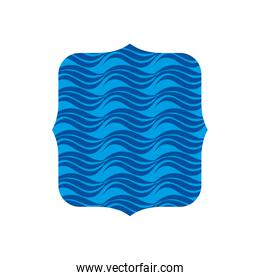 square shape with nature waves background