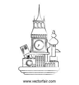 figure big ben and moscow vacation journey