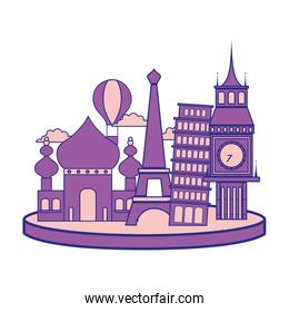 full color travel adventure site of vacation journey
