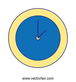 full color circle wall clock time object