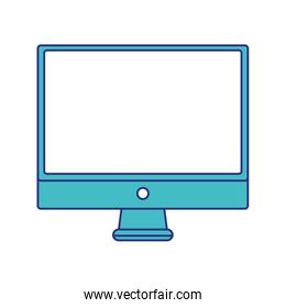 full color electronic computer screen technology icon