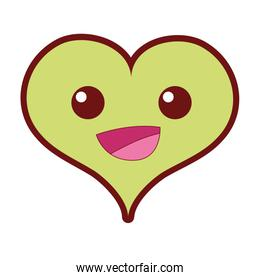 line color happy heart passion kawaii character