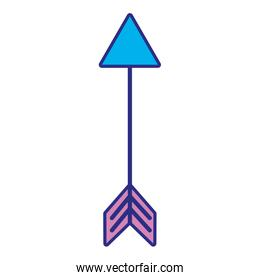 full color arrow element with pointer design art