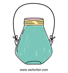 small mason jar with wire handle