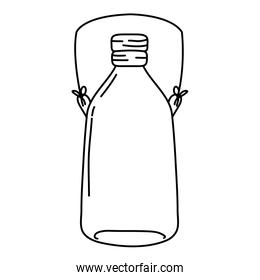 line long mason jar with wire handle