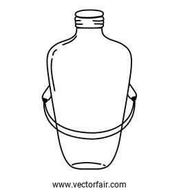line long mason jar with wire handle design