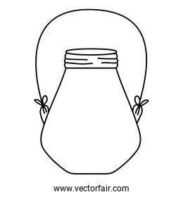 line small mason jar with wire handle