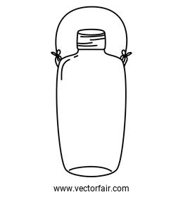 line long mason jar with wire handle style