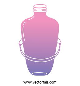 color silhouette long mason jar with wire handle design