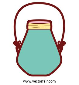 line color small mason jar with wire handle