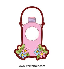 line color funny mason jar kawaii with arms and wire handle