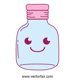 full color smile mason glass kawaii cartoon