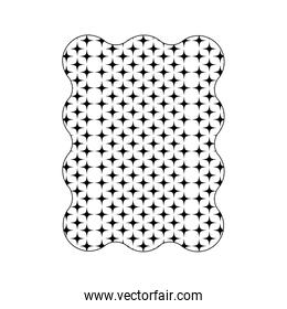 silhouette figure with pattern graphic seamless background style