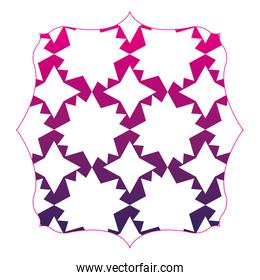 silhouette square with pattern abstract shapes background decoration