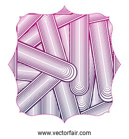 silhouette square with pattern shapes abstract background design