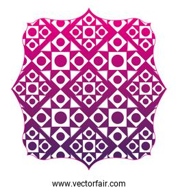 silhouette square with pattern seamless shapes background design