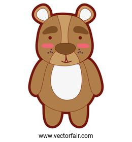 line color cute and surprised bear wild animal