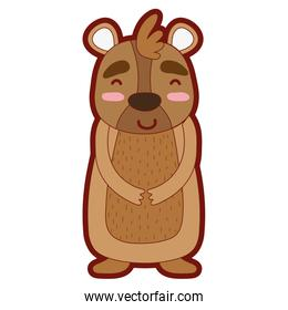 line color cute and happy bear wild animal