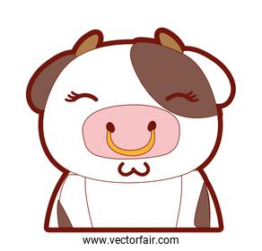 line color adorable and shy cow wild animal