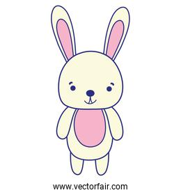 full color cute and happy rabbit wild animal
