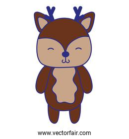 full color cute and shy deer wild animal