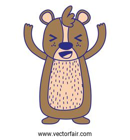 full color cute and glad bear wild animal