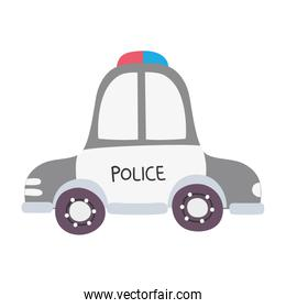 colorful emergency police car transport with siren