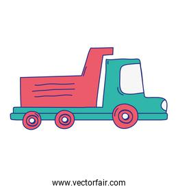 full color dump truck industry and contruccion vehicle