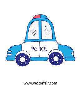 full color emergency police car transport with siren
