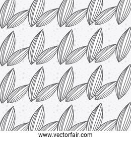 Rustic leaves hand drawn background