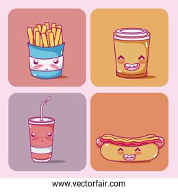 Cute fast food collection