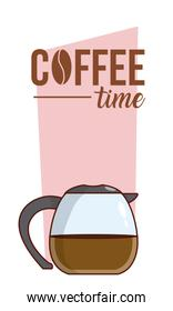 Coffee time concept cartoon