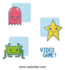 Videogame retro characters