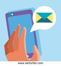 Using smartphone for send email