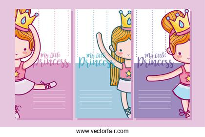Set of cards for girls
