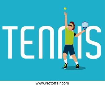Tennis concept with player