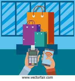 NFC technology payment and shopping