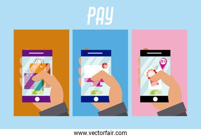 Users using NFC technology paying