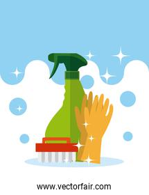 Cleaning kit and products