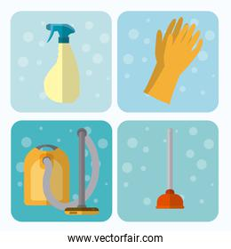 Set of cleaning appliances