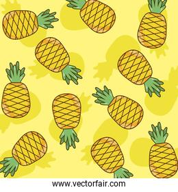Pineapples pattern background